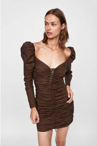 zara 80s dress